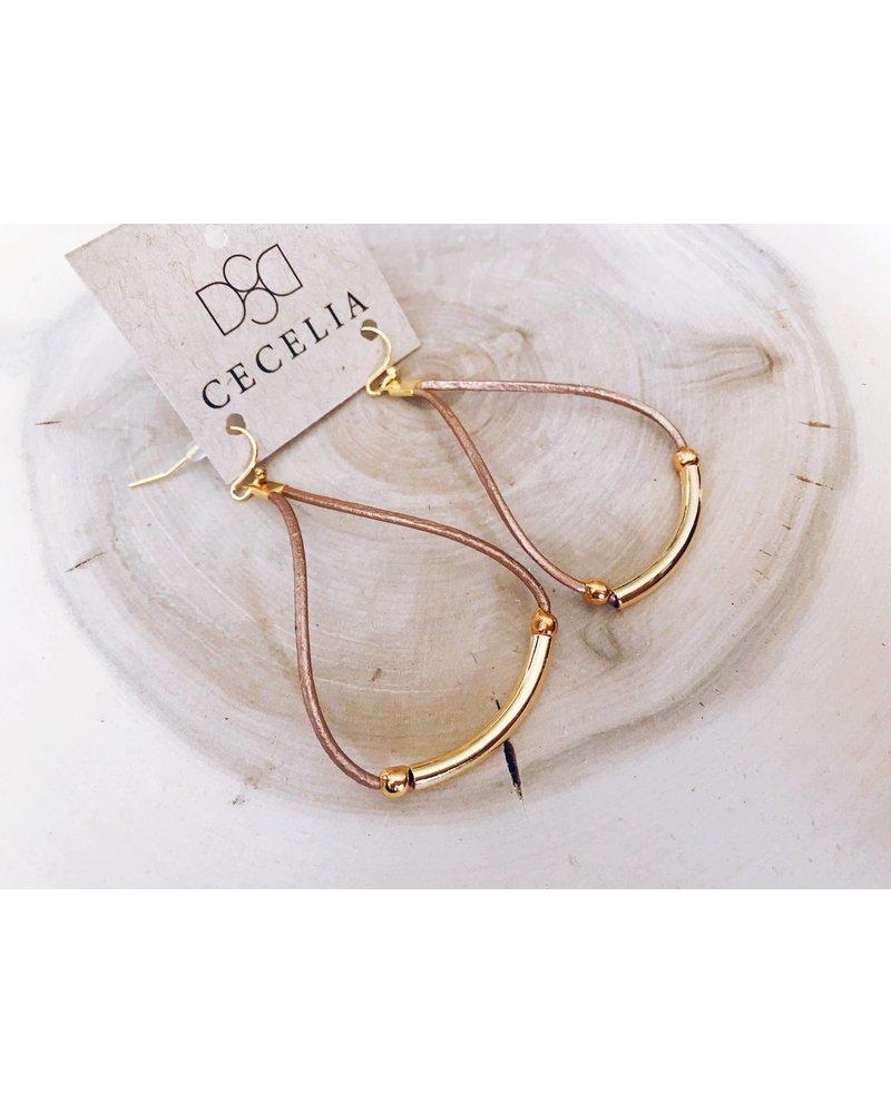 Cecelia Leather Cord Earrings