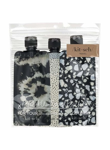 Kitsch Refillable Travel Pouches 3pc
