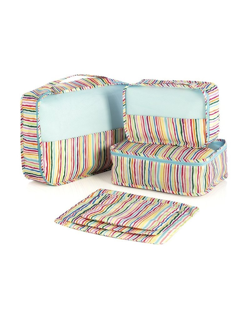 Shiraleah Multi Color 6pc Travel Cubes