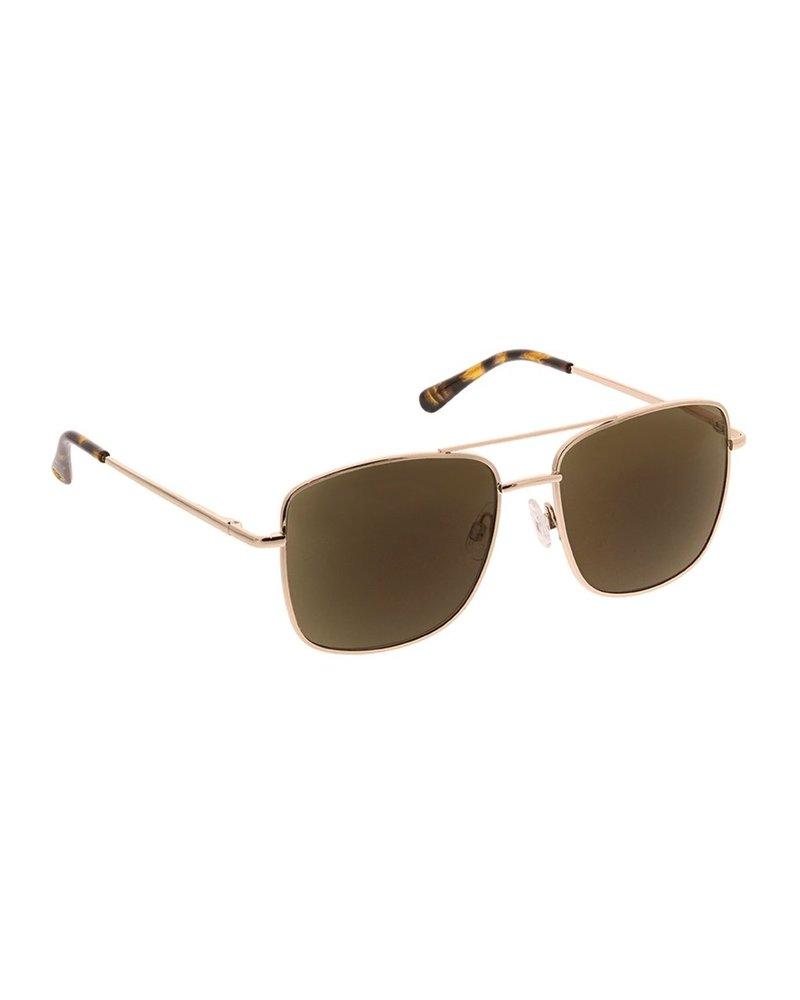 Peepers Unisex Gold Big Sur Sunglasses