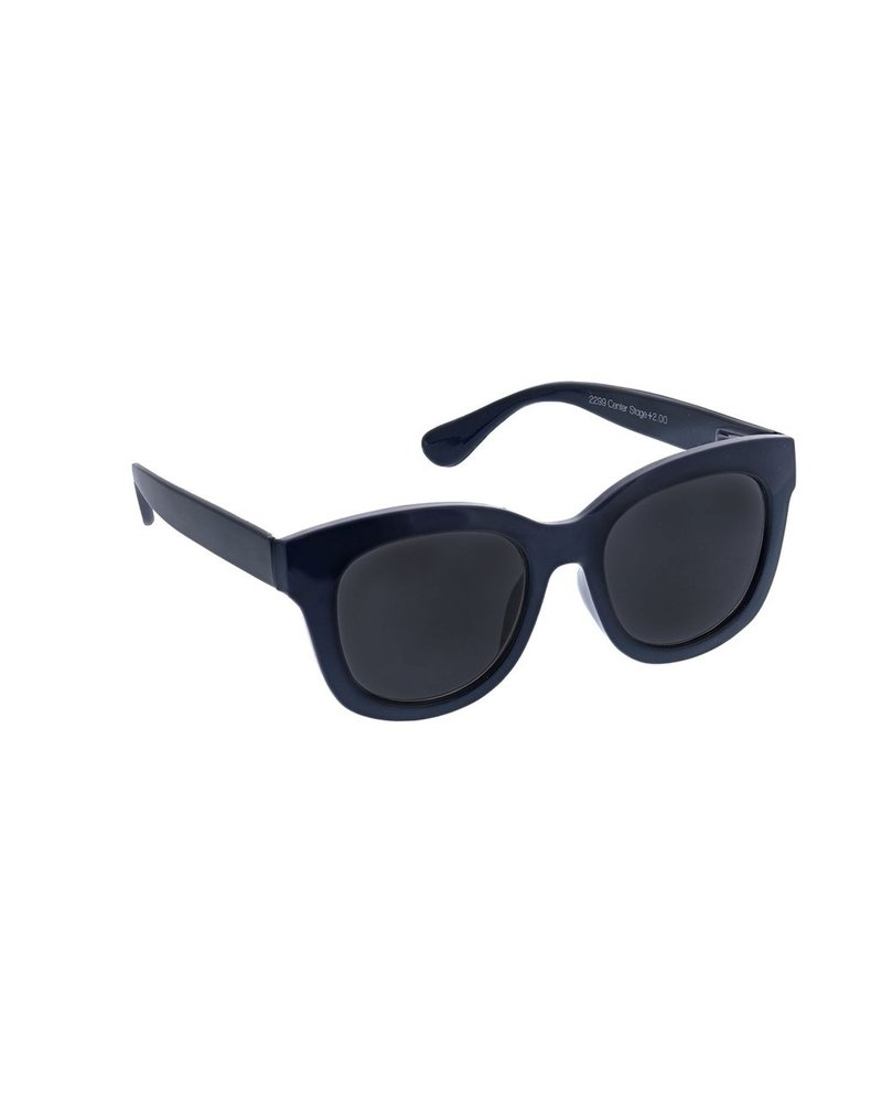 Peepers Navy Center Stage Reader Sunglasses