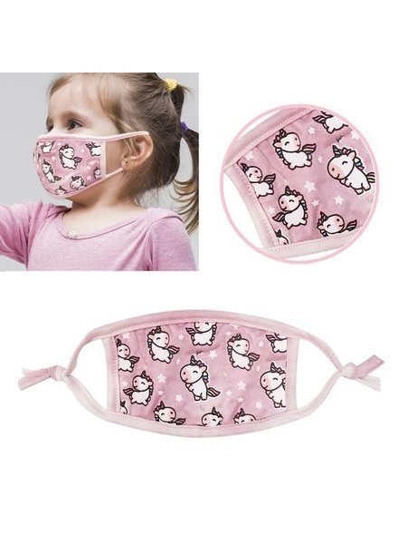 RK Apparel Inc Young Child - Pink Unicorn Mask