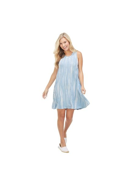 Mud Pie Blue Tie Dye Maya Swing Dress