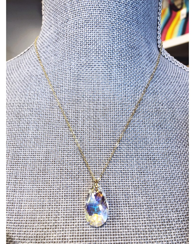 The Beaded Wire Princess Crystal Chain Necklace