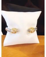 ABW Designs Heavy Clear Jewel Cuff