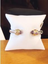 ABW Designs Heavy Amethyst Jewel Cuff