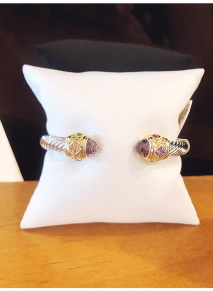 ABW Designs Heavy Amethyst Jewel Cuff