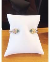 ABW Designs Heavy Blue Jewels Cuff