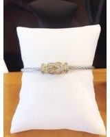 ABW Designs Twisted Wire - Pave Square Knot
