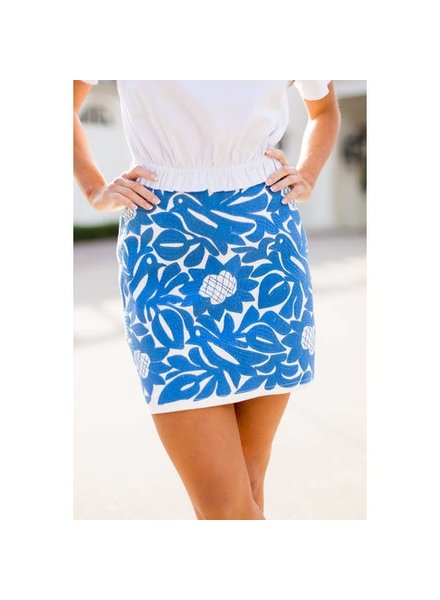 J. Marie Collections Marina Skirt - Periwinkle