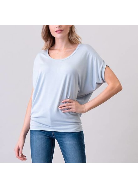 Natural Life Pale Sky Dolman Sleeve Top
