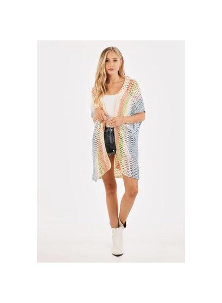 Loveriche Crochet Short Sleeve Cardigan