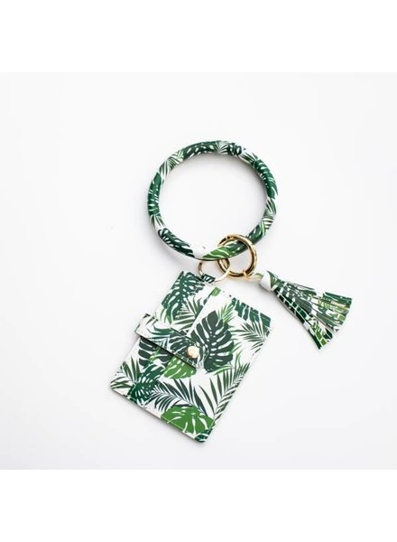 Funky Monkey Fashion Palm Leaf Card Holder & Keyring Tassel