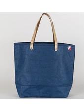 Shore Bags Blue Jute Tote Bag