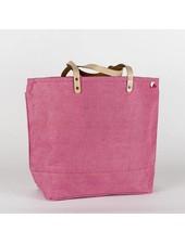 Shore Bags Pink Jute Tote Bag
