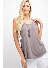 Faith Apparel Taupe Basic Tank