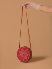 Folk Fourtune Pink Rattan Bag