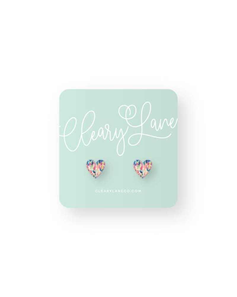 Cleary Lane Sequoia Heart Studs