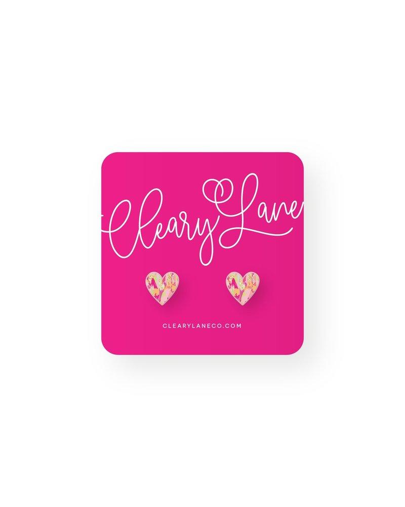 Cleary Lane Hazel Heart Studs