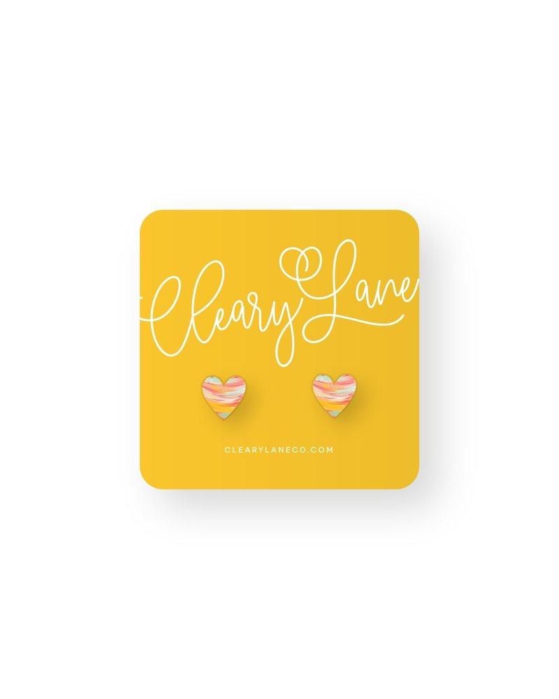Cleary Lane Juniper Heart Studs