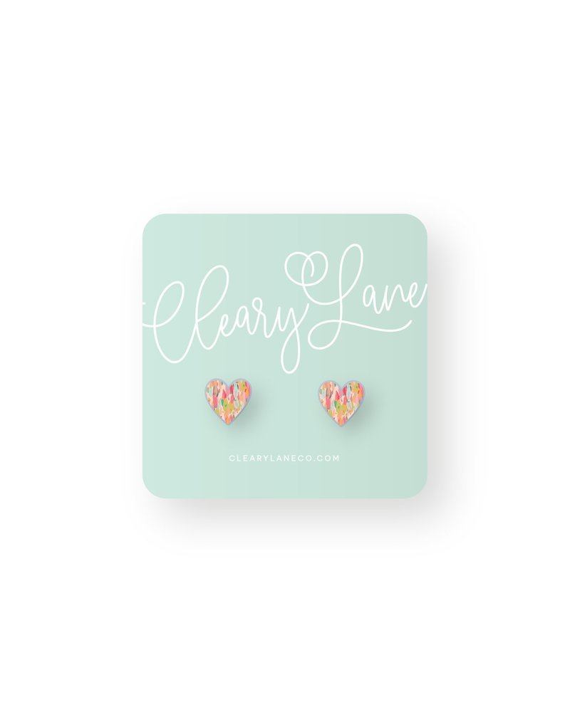 Cleary Lane Olivia Heart Studs