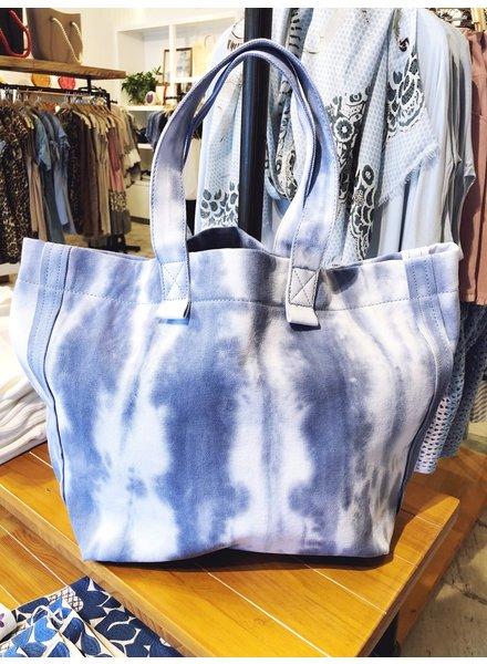 Street Level Handbags Tie Dye Blue Slouchy Tote