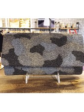 Tiana Designs Silver Camo Structured Clutch
