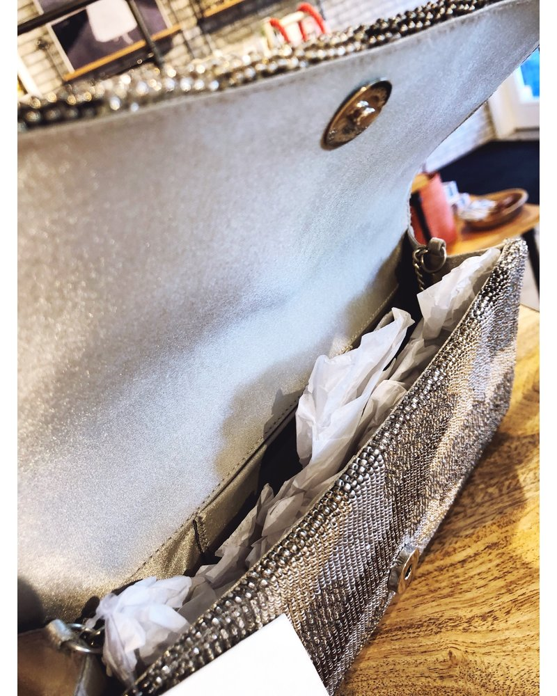 Tiana Designs Silver Camo Structured Clutch