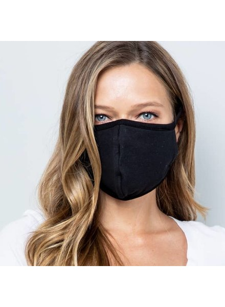 Acting Pro Solid Black Face Mask