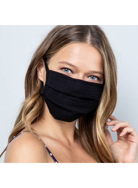 Acting Pro Black Textured Fabric Face Mask