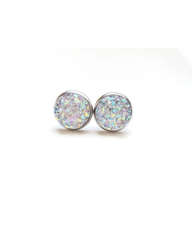 Spiffy & Splendid Crystal Druzy Studs
