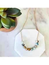 Pretty Simple Amazonite Stone Necklace
