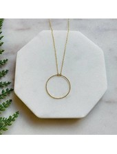 Pretty Simple Dainty Gold Circle Necklace