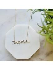 Pretty Simple Gold Mama Neckace