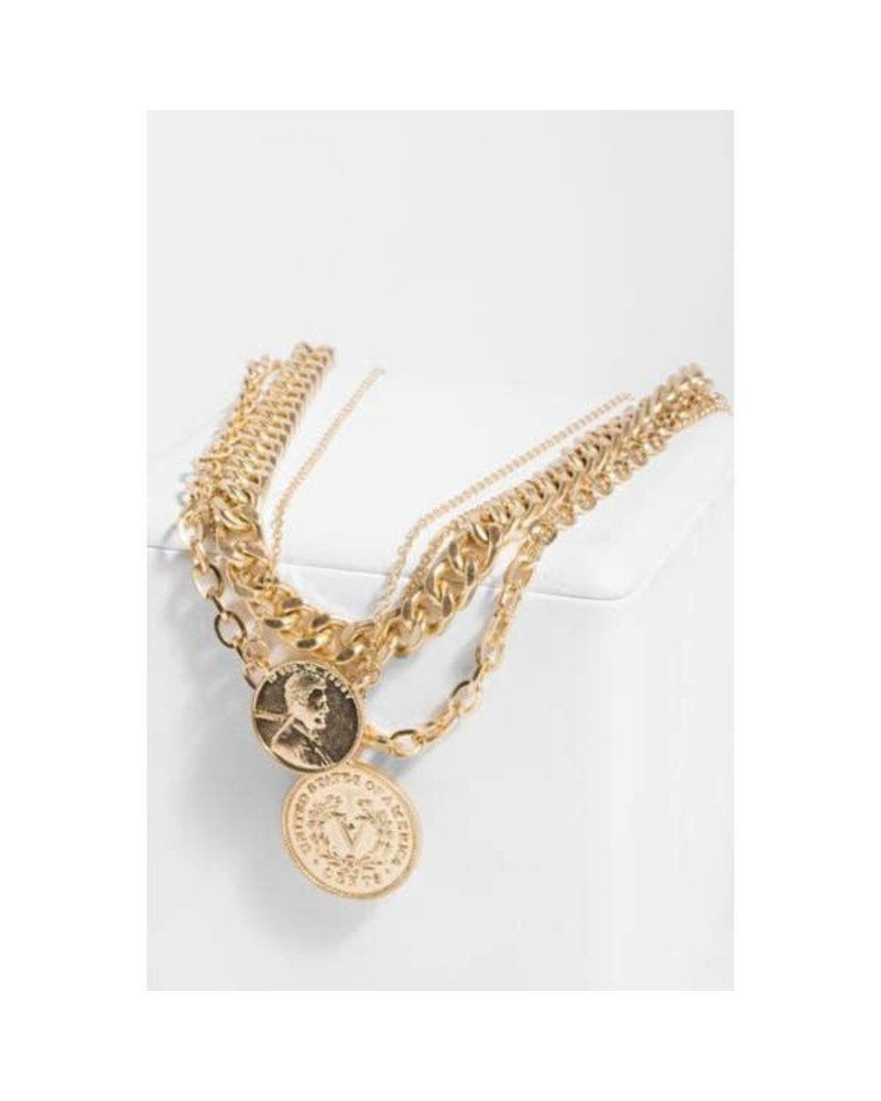 Saachi Sikka Gold Coin Chain Necklace