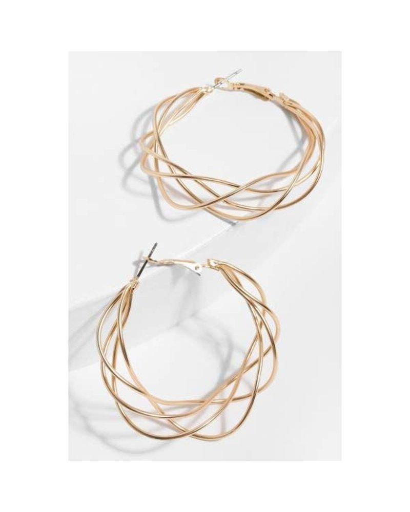 Saachi Gold Multi Surface Earring
