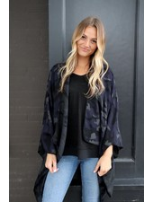 Panache Accessories Navy Camo Cape/Poncho