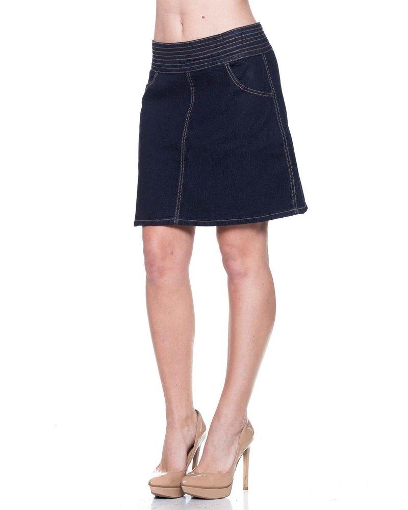 G-Gossip Apparel Stretch Demin Pull-On Sarah Skirt