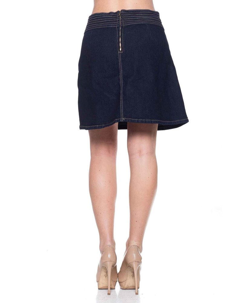 Mountain Valley Trading Stretch Demin Pull-On Sarah Skirt