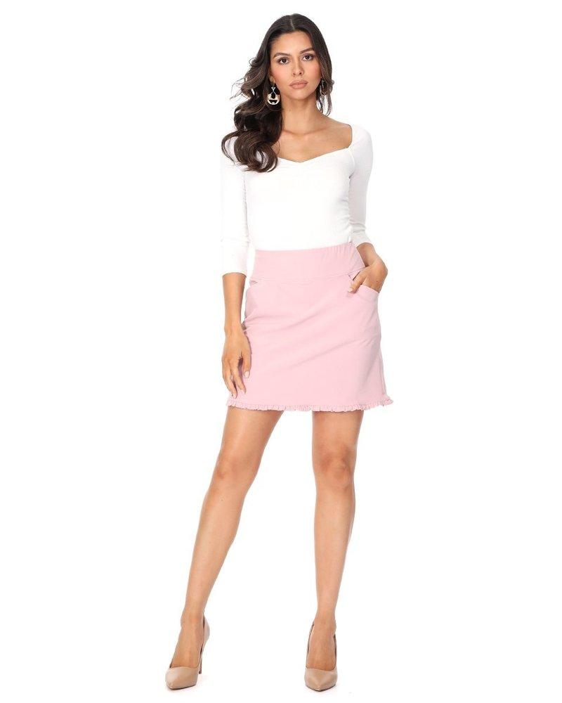 Aryeh Pink Ruffle Skort