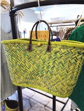 onigo Green March Raffia Basket
