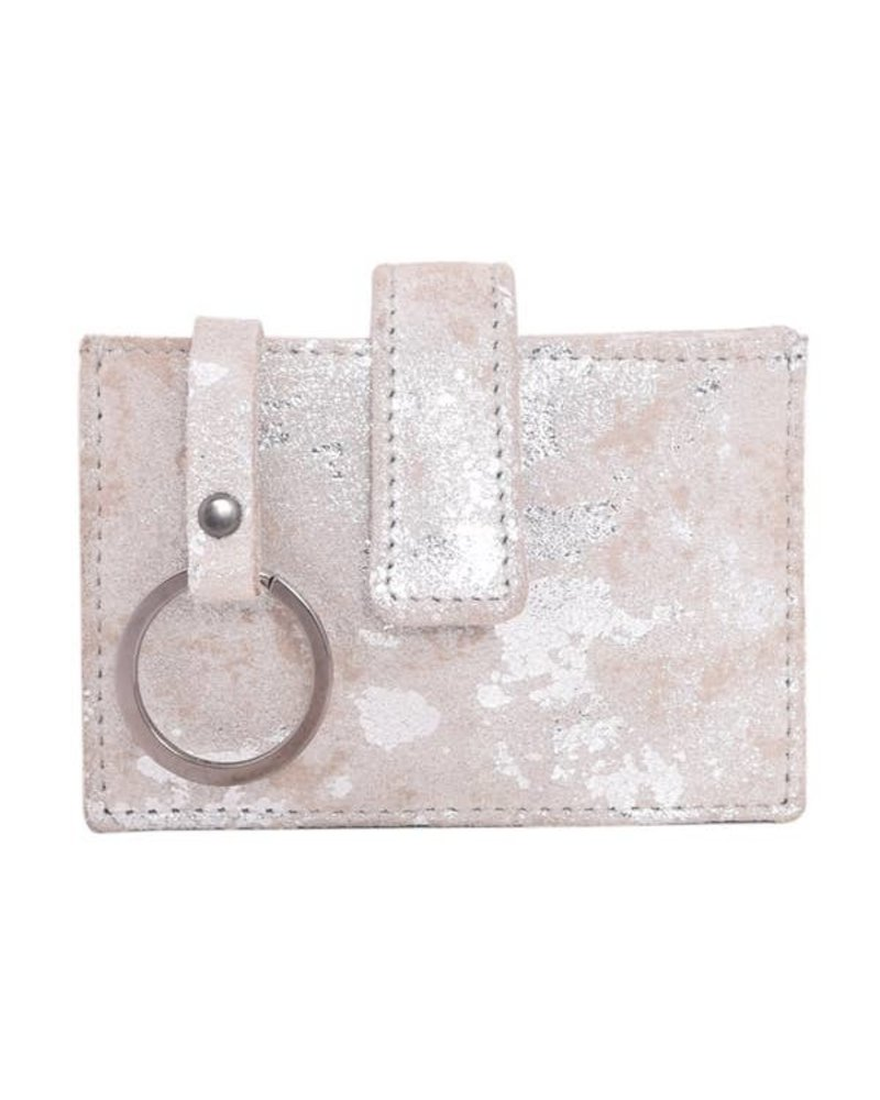 Latico Leathers Noelle Stone Leather Card Wallet W/Keyring