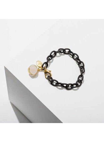 Larissa Loden Dahlia Rose Quartz Bracelet