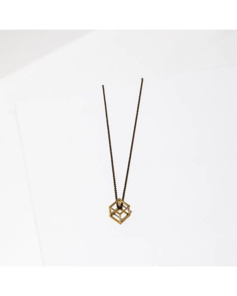 Larissa Loden Mini Pirouette Antique Brass Necklace