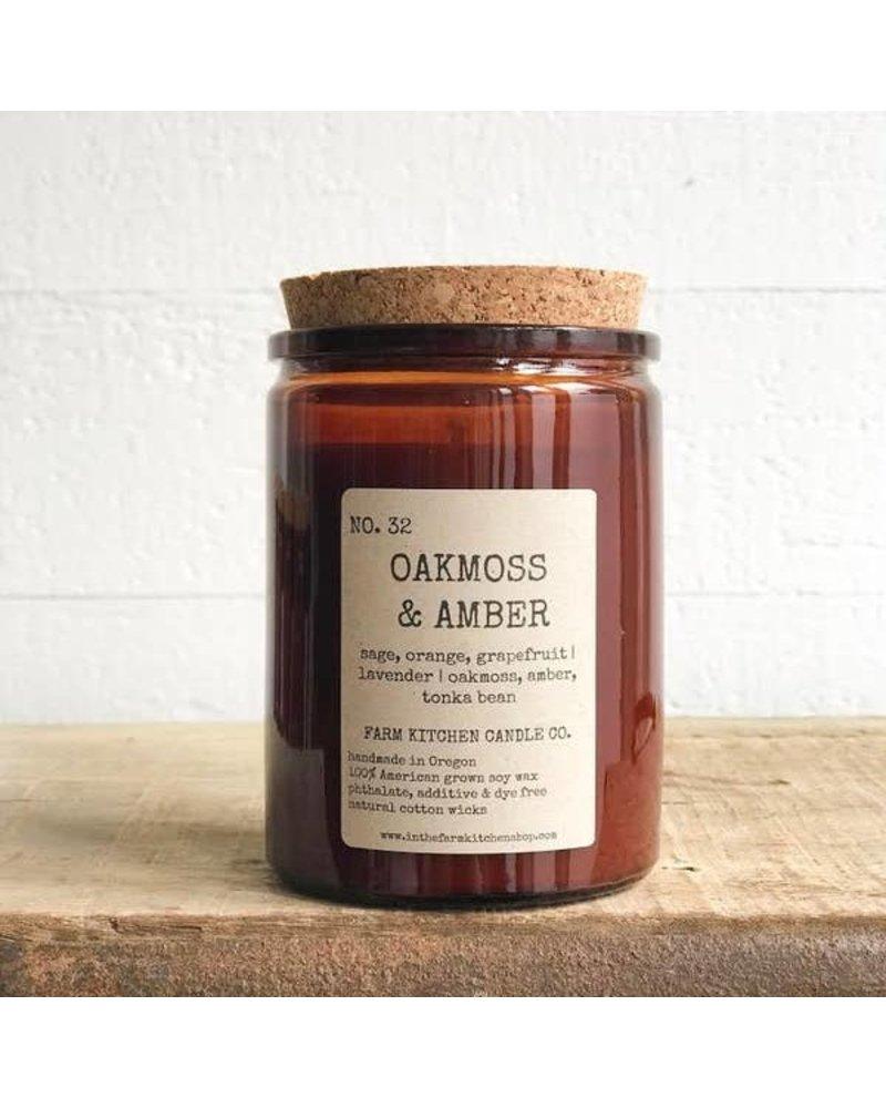 Farm Kitchen Candle Co. Oakmoss & Amber Soy Candle