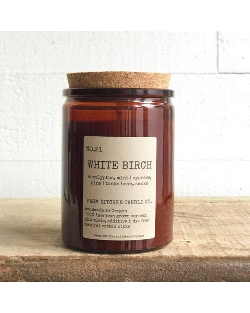 Farm Kitchen Candle Co. White Birch Soy Candle