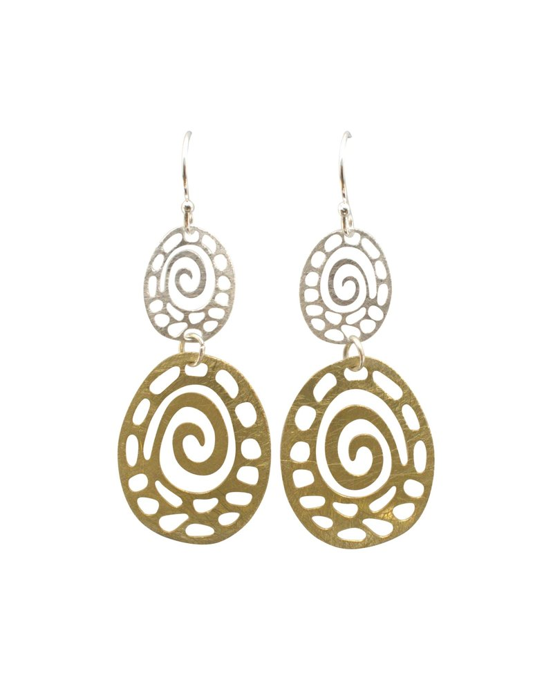 Takobia Two Tone Swirl Earrings