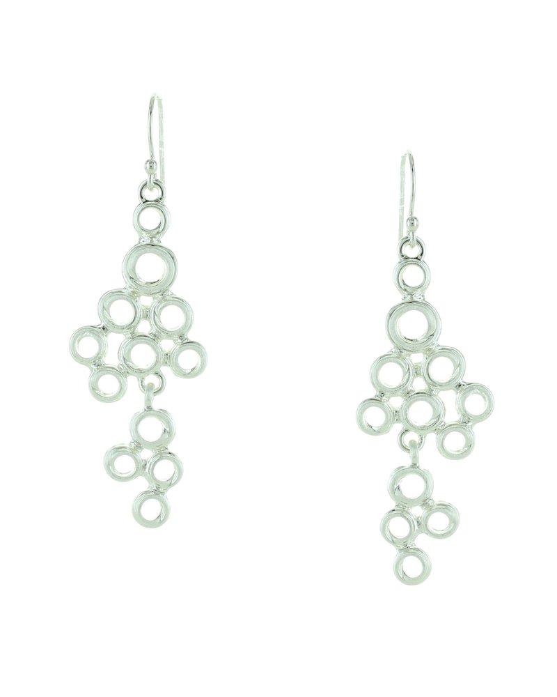 Takobia Open Circles Drop Earrings