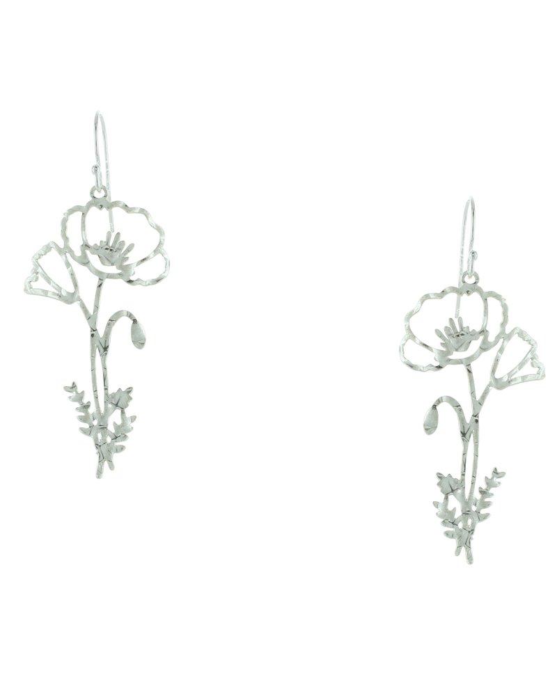 Takobia Hammered Flower Earrings