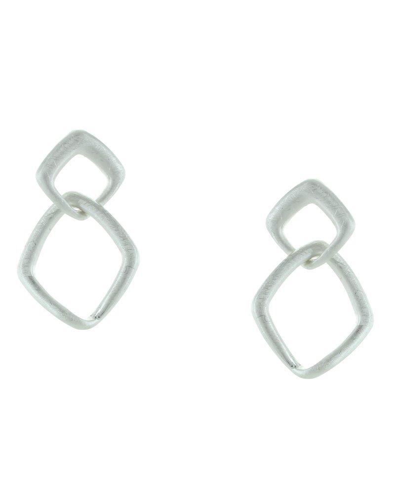 Takobia Double Open Diamond Post Earrings